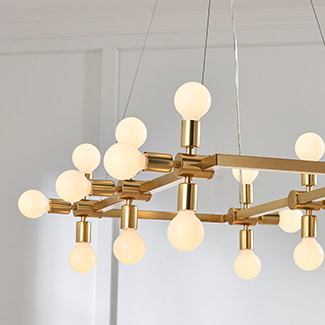 gold lighting interior design how high do I hang my chandelier?