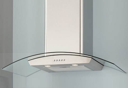 glass metal kitchen range hood, designer Abbotsford, BC